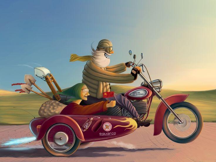 Открытки мотоциклистов, днем рождения дорогая