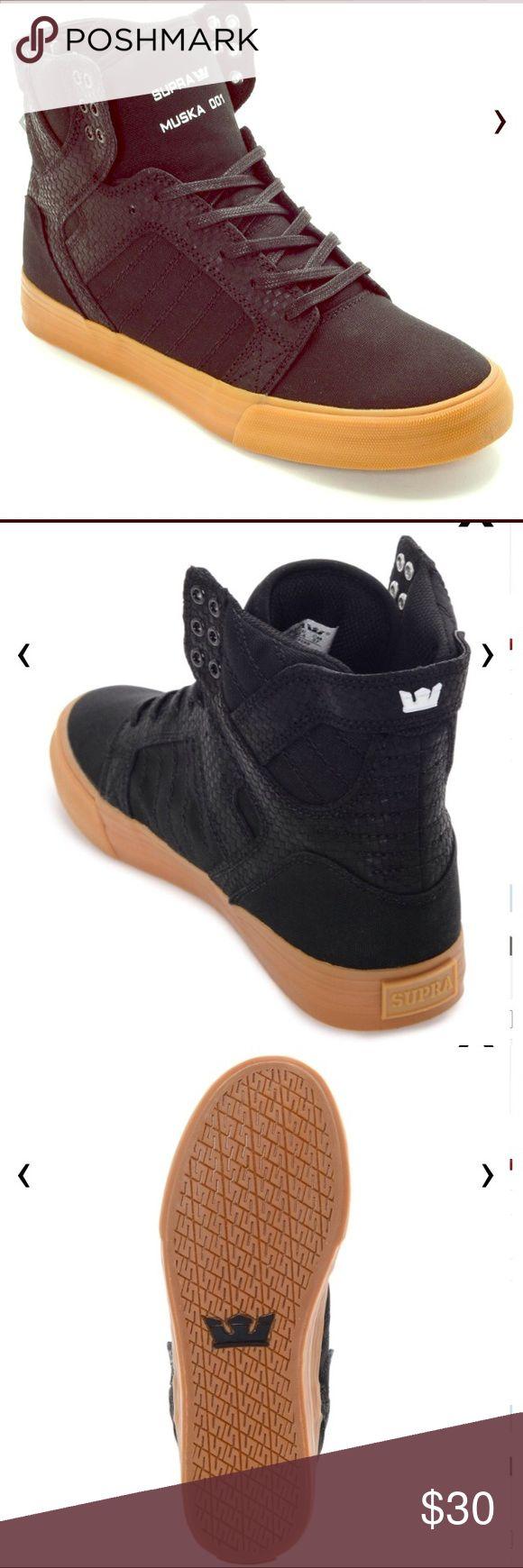 ✨SUPRA Muska 001 Skytop Black-Gum Shoes 8 Men's Brand new SUPRA Skytop shoes! Size 8 in men's! 💋 Supra Shoes Sneakers