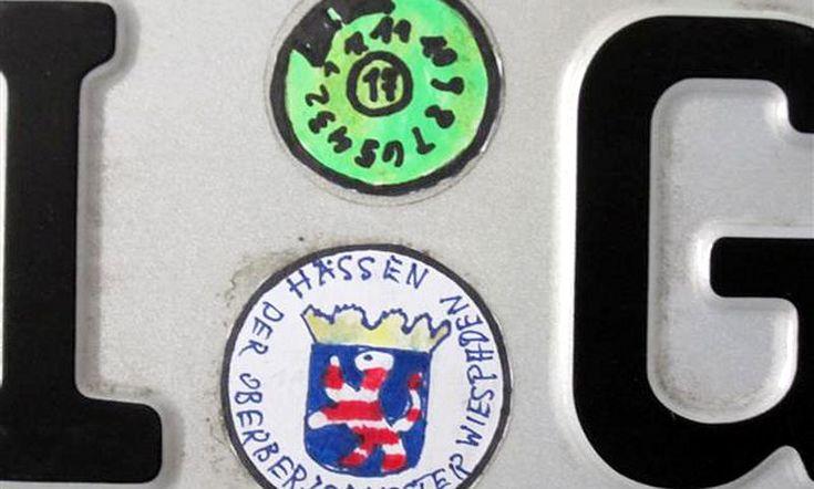 Polizei Nummernschild