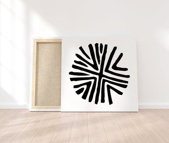 Taino Star Digital Wall Art Black Minimal Printable Digital Wall Digital Wall Art Chic Wall Art