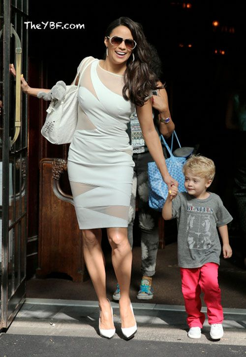 Paula Patton and her son Julian