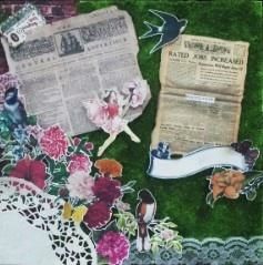 vintage garden theme  size 30cmx30cm 25,72$
