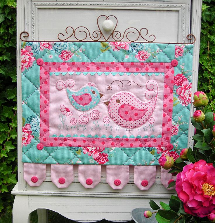 """""""Hotch & Potch"""" by Sally Giblin of The Rivendale Collection. Finished wallhanging size: 18"""" x 18½""""  #TheRivendaleCollection stitchery, appliqué and patchwork patterns. www.therivendalecollection.com.au"""