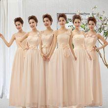 Flor vestido de chiffon longo vestido de festa vestidos capina mix diferentes decotes 2271(China (Mainland))