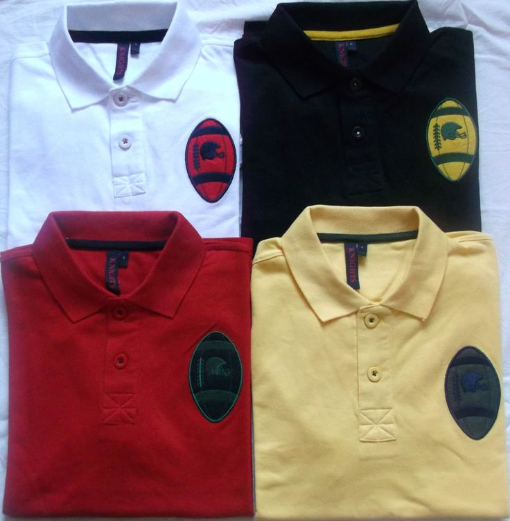 Mens Polo t shirts  (New Brand) KNIGHTS  with Rugby Ball And Helmet Logo