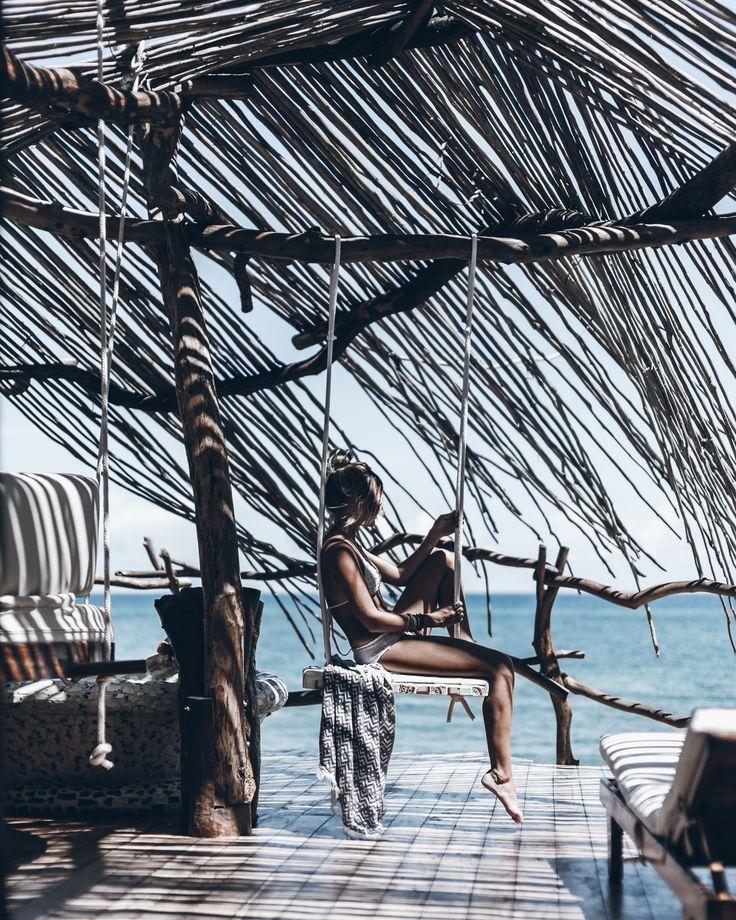 hanging at the azulik in tulum