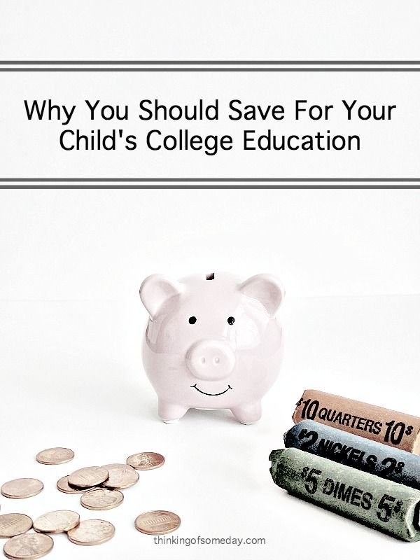 Have you thought about if you should save for your child's college education? Regardless of if you have or haven't, here are some reasons why you should.