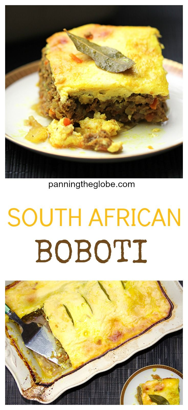 The most delicious meatloaf ever  • a national dish of South Africa • Panning The Globe