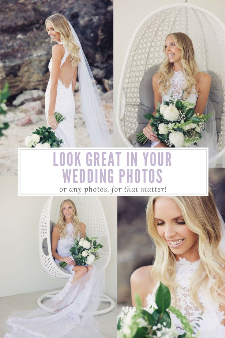 6 tips from a wedding photographer to help you look your best in your wedding photographs! Not just for weddings - for photos in general, and they work for everyone – women, men, young and old.