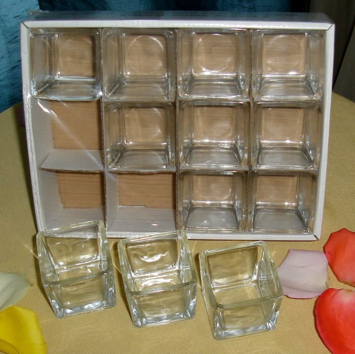 24 pack 2 square glass votive candle holder clear wedding stuff glass votive candle holders. Black Bedroom Furniture Sets. Home Design Ideas