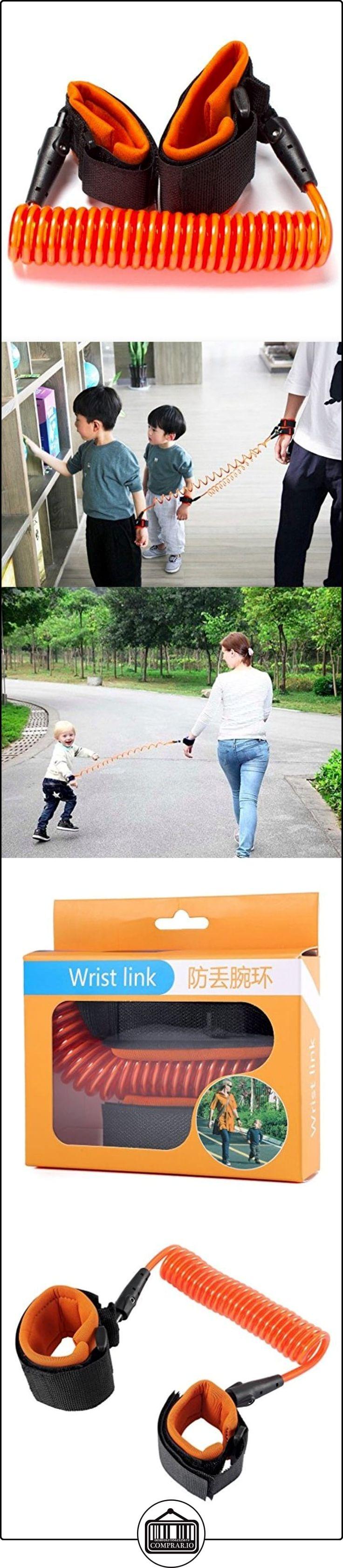 homeself nuevo diseño ajustable suave para bebé anti perdido cinturón arnés de seguridad Seguridad Elástico Cuerda De Alambre muñeca Link correa de sujeción anti perdido paso caminar cinturón de mano para viajar compras explorar naranja naranja  ✿ Seguridad para tu bebé - (Protege a tus hijos) ✿ ▬► Ver oferta: http://comprar.io/goto/B01MYT4HKJ