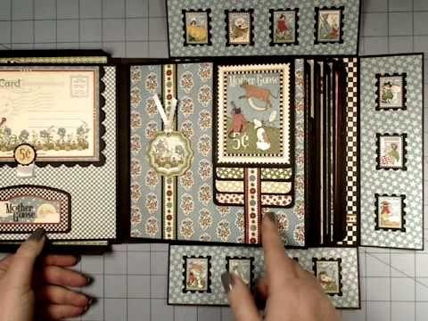 G45 Mother Goose 8x8 Boxed Mini Album. Muy bonito. En portada usa Crystal 3D lacquer para resaltar figuras y queda fenomenal. Se suele usar para camafeos.