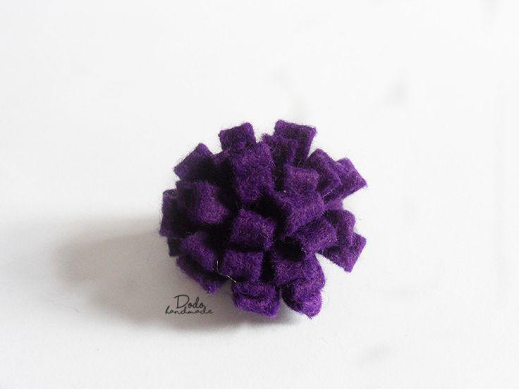 Spinka do włosów - fioletowa dalia - DodoHandmade - Klipsy do włosów