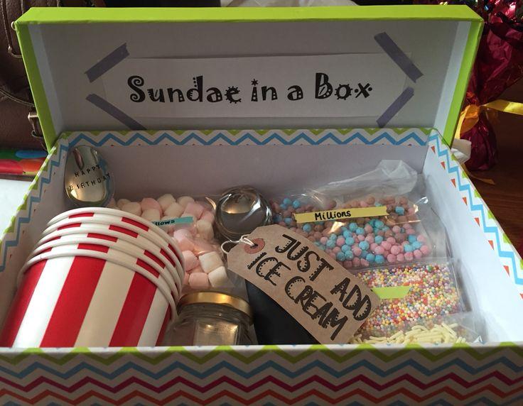 Sundae in a box present