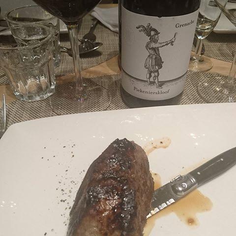 Steak and #piekenierskloof #grenache is always a winner together!!!