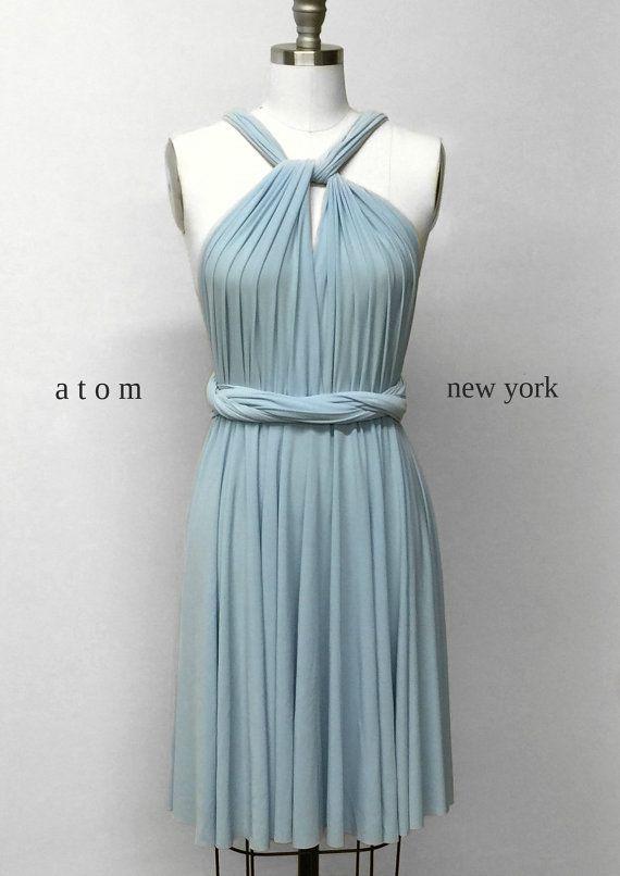 Baby Blue étage longueur robe de bal