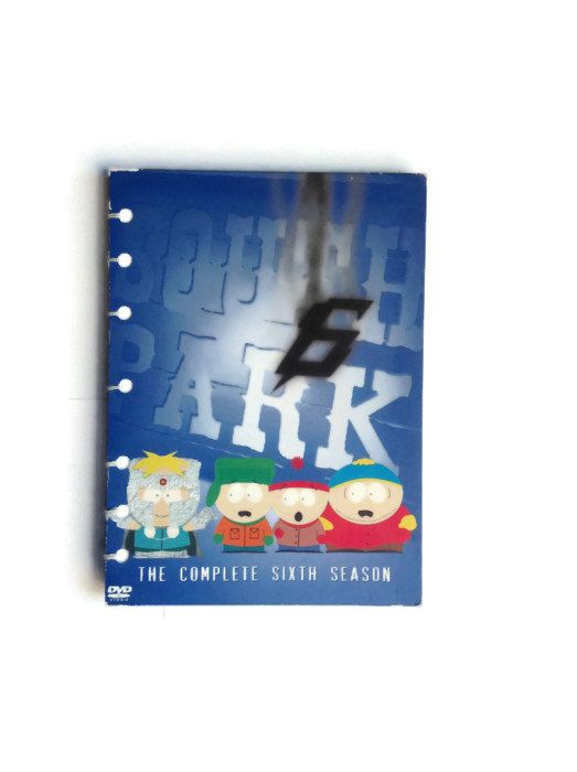 South Park coptic journal handmade reworked DVD box from season 6 - 128 plain white pages stan kyle cartman kenny - pinned by pin4etsy.com