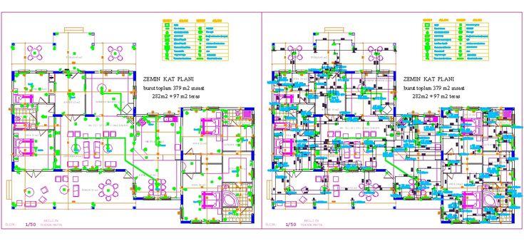 Dwg Adı : Akıllı ev projesi  İndirme Linki : http://www.dwgindir.com/puanli/puanli-2-boyutlu-dwgler/puanli-yapi-ve-binalar/akilli-ev-projesi.html
