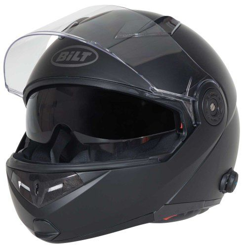 Special Offers - BILT Techno Bluetooth Modular Motorcycle Helmet  LG Matte Black - In stock & Free Shipping. You can save more money! Check It (July 23 2016 at 02:47AM) >> http://motorcyclejacketusa.net/bilt-techno-bluetooth-modular-motorcycle-helmet-lg-matte-black/