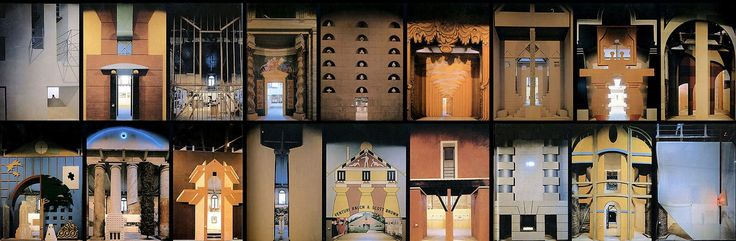 """La Strada Novissima in """"The Presence of the Past, the 1980 Venice Biennale"""" directed by Paolo Portoghesi. Included the participetion of Arata Isozaki, Arsenale, Frank O. Gehry, Michael Graves, Rem Koolhaas, Scott Brown and Venturi, Hans Hollein, Massimo Scolari"""