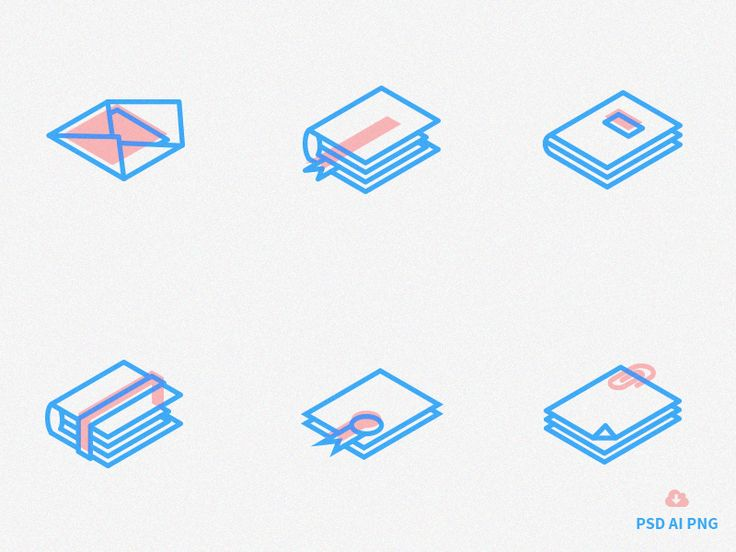 Set of Free Isometric Line Icons