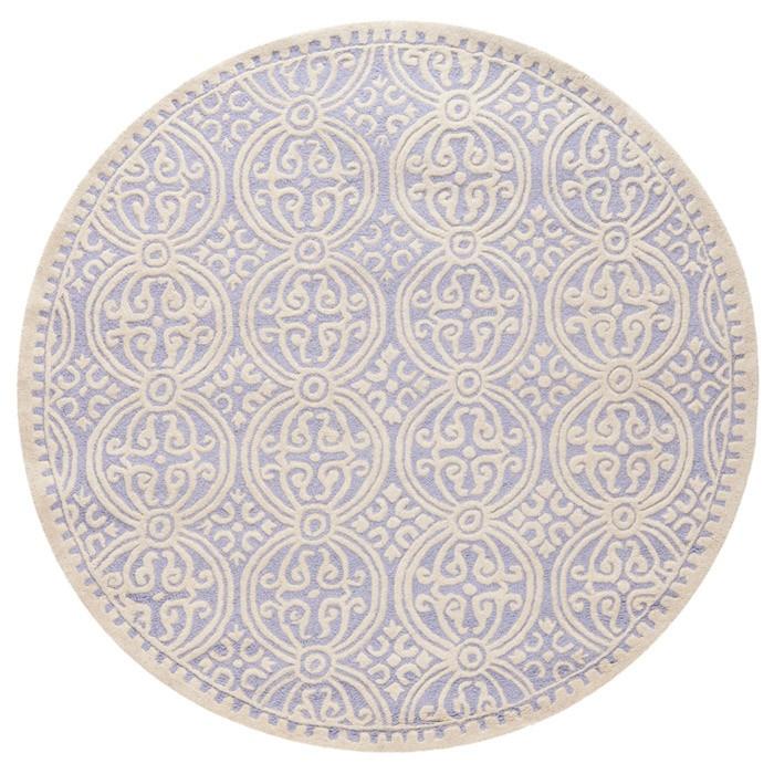 Cambridge Round Rug in Lavender