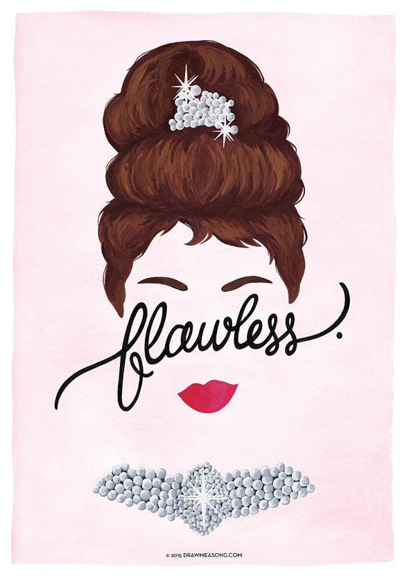 4 Flawless Posters Calligraphy Print Series by DrawMeASong on Etsy