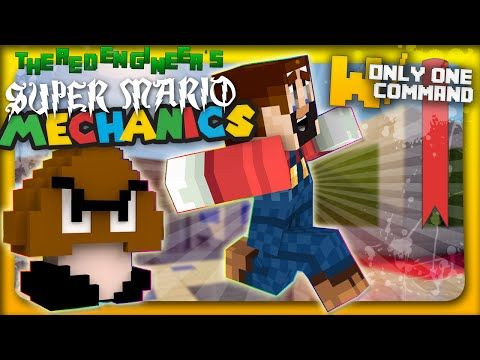 Minecraft - Super Mario mechanics with only one command block - YouTube