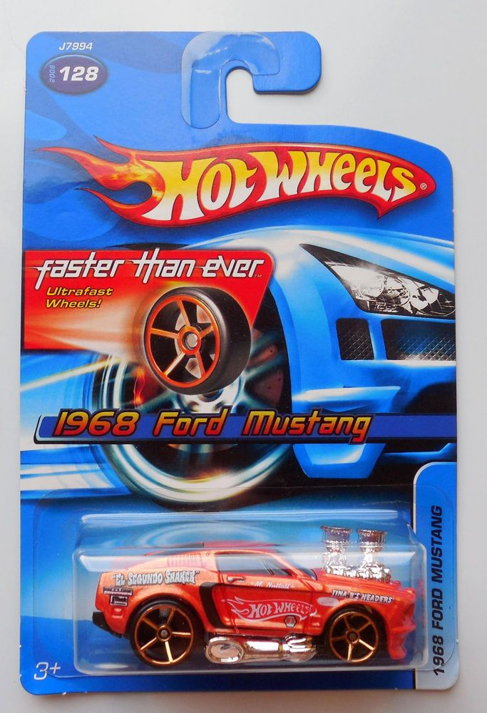 2006 Hot Wheels FTE 128 orange 1968 Ford Mustang Faster