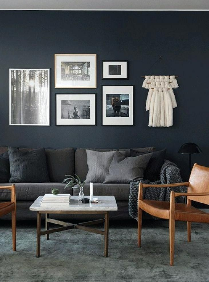 Image Result For Couch Dark Wall Color Dark Grey Living Room