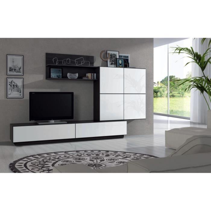 meuble tv lue meuble tv mural 250 cm blanc noirlue meuble. Black Bedroom Furniture Sets. Home Design Ideas