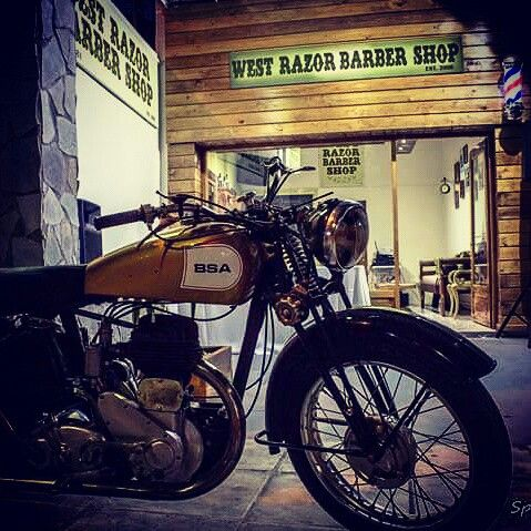 BSA motor West razor barber shop