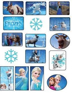 {free} printable Frozen Stickers