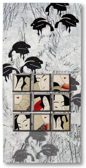 Scrutiny by Liz Kuny, contemporary quilt artist