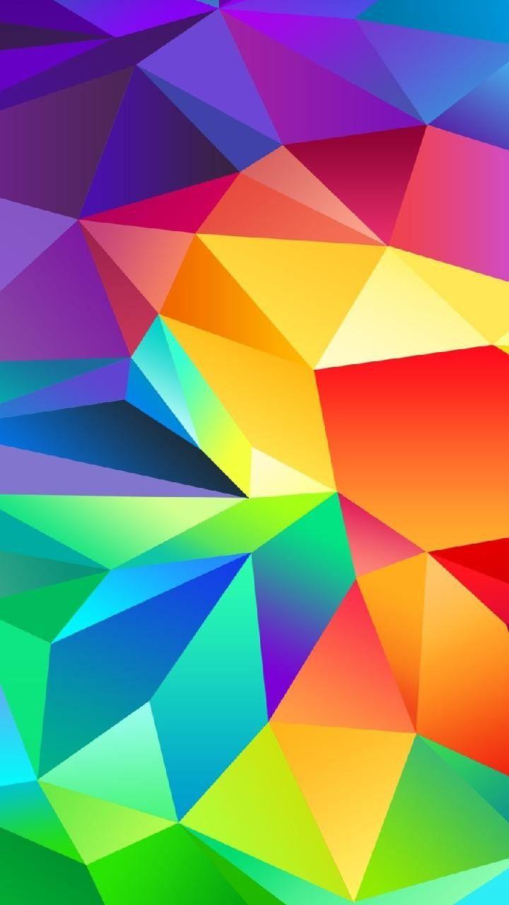 Beautiful Colorful Crystal Walpaper On A Samsung Galaxy S5 Phone Screen Wallpaper Screen Wallpaper Samsung Wallpaper