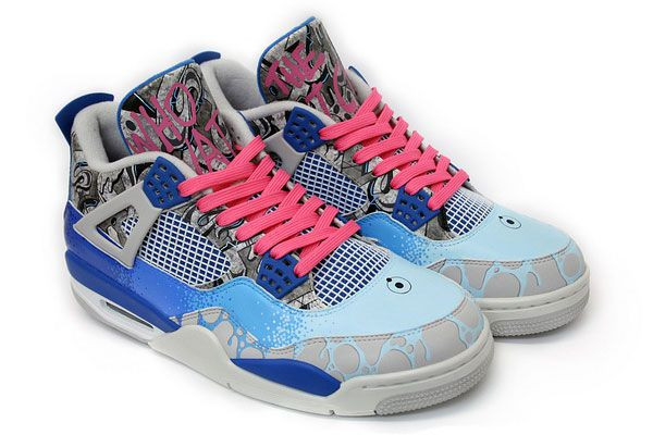 "Air Jordan 4 ""Dr. Manhattan"" Custom: Manhattan Custom, Jordans 4, Bad Shoes, Air Jordans, Shoes Games, Custom Sneakers, Custom Air, Watchmen Sneakers, Custom Watchmen"