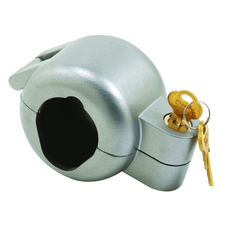 Prime-Line S 4180 Door Knob Lock-Out, Gray, 2-7/16