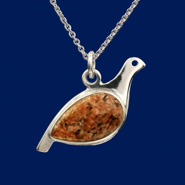 Ptarmigan, pendant, brown, Taigakoru, Finland