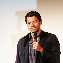 Misha Collins...being adorably cute. And yet oh-so-sexy!