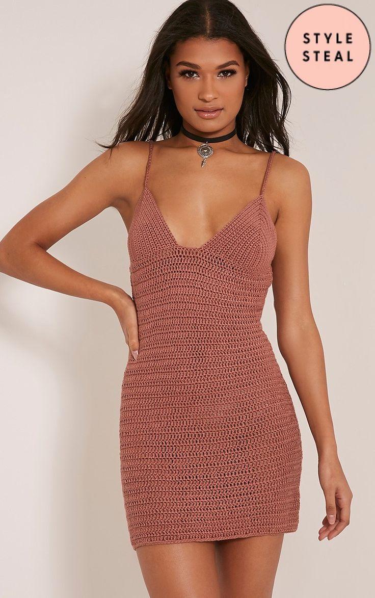 Rosally Rose Crochet Mini Dress