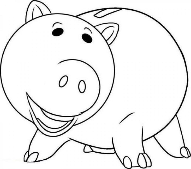 Hamm Pig Toy Story Coloring Pages Disney Free Online And Printable