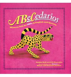 ABeCedarios is an alphabet book which uses hand carved Oaxacan figurines of animals to illustrate the Spanish and English alphabet.