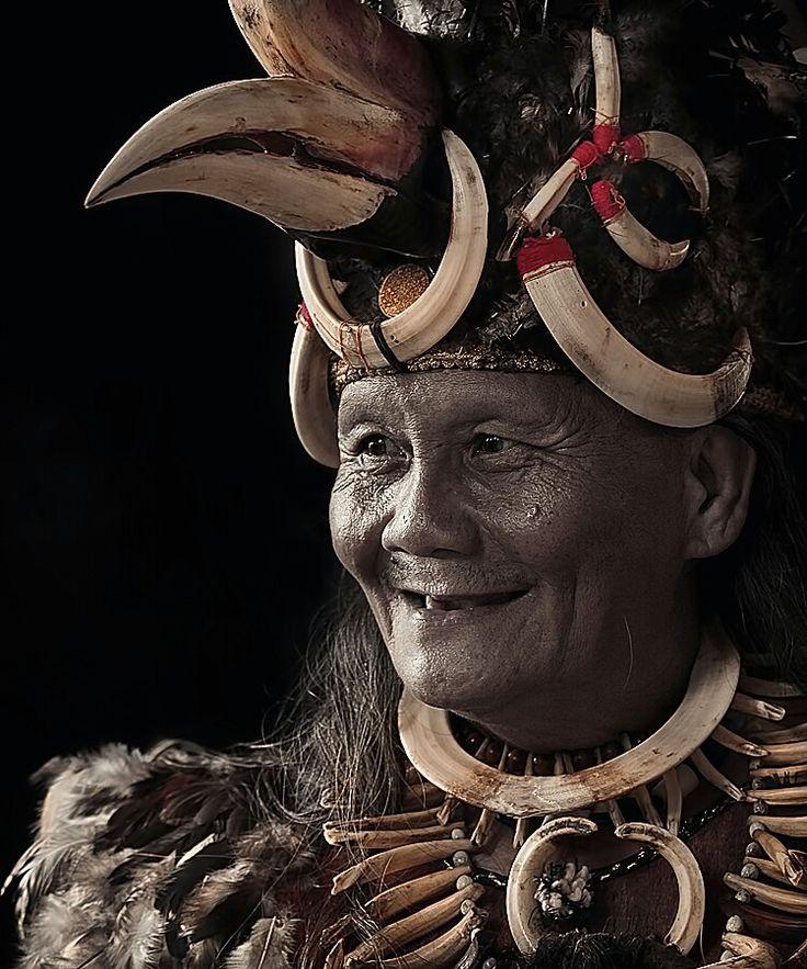 Dayak Man. Kalimantan