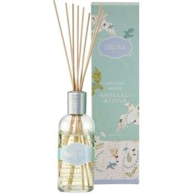 Lilly's Wish Diffuser Reeds in White Lilly & Lotus are made in Australia from special blends including essential oils. Available at www.threemadfish.com