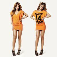 Supertrash Oranje jurk dames S/M