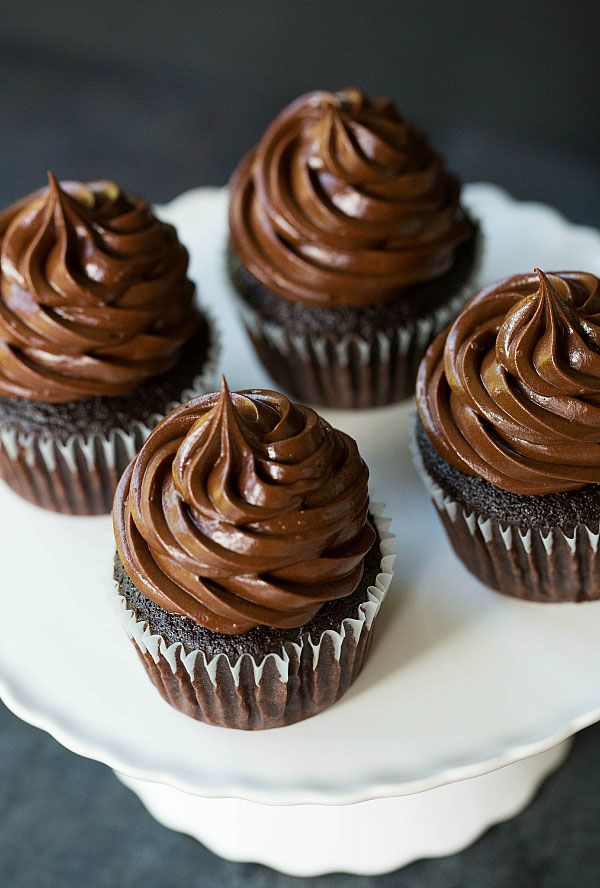 Ultimate Chocolate Cupcakes - The best moist chocolate cupcakes recipe made from scratch! | browneyedbaker.com