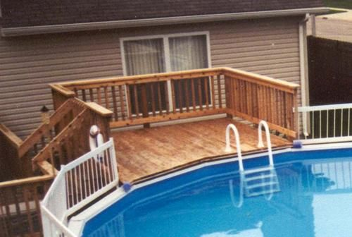 14 best images about pool decks on pinterest pergola for Above ground pool decks with lattice