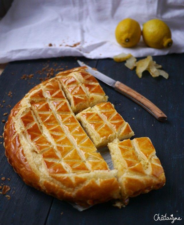 Galette des rois, citron et cédrat confit - Blog de Châtaigne
