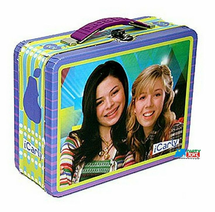 Partytoyz Inc. - iCarly Square Carry All Tin Stationery Lunch Box - Purple/Green, $7.99 (http://www.partytoyz.com/icarly-square-carry-all-tin-stationery-lunch-box-purple-green/)