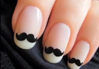 : Nails Art, Style, Nailart, French Manicures, Nailsart, Moustache Nails, Beautiful, Whiskers, Mustache Nails